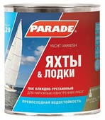 Лак Parade L20 Яхты & Лодки полуматовый (0.75 л)