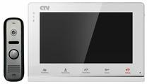 Комплектная дверная станция (домофон) CTV CTV-DP2700IP черный (дверная станция) белый (домофон)