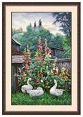 Овен Цветной Вышивка крестом Вечер в русской провинции 26 х 42 см (800)