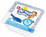 Творог Агуша детский с натуральным витамином К2 классический (с 6-ти месяцев) 4.5%, 50 г