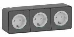 Розетка Schneider Electric MUR36038,16А, с заземлением, серый