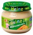 Пюре Heinz Морковочка (с 5 месяцев) 80 г, 1 шт