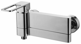 Однорычажный смеситель для ванны с душем IDDIS Slide SLISB00i02WA