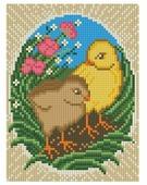 Алмазная живопись Набор алмазной вышивки Пасхальные цыплята (АЖ-1320) 15х20 см