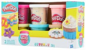 Масса для лепки Play-Doh Набор с конфетти 6 банок (B3423)
