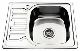 Врезная кухонная мойка Ledeme L95848-R 58х48см нержавеющая сталь