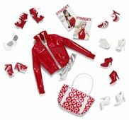 Barbie Комплект одежды и аксессуаров для куклы Барби Basics Look No 02—Collection Red