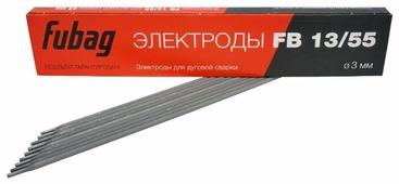 Электроды для ручной дуговой сварки Fubag FB13/55 3мм 0.9кг