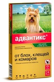 Адвантикс (Bayer) Капли на холку для щенков и собак до 4 кг (4 пипетки)