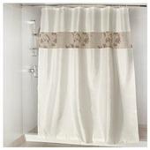 Штора для ванной Aquarius Кленовый лист с кружевом 180х200
