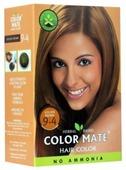 Хна Color Mate травяная краска для волос, тон 9.4 golden brown