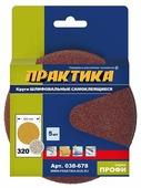 Шлифовальный круг на липучке ПРАКТИКА 038-678 125 мм 5 шт