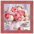 Алмазная живопись Набор алмазной вышивки Пионы и розы (АЖ-1696) 40х40 см
