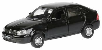 Легковой автомобиль ТЕХНОПАРК Lada Priora хэтчбек (SB-18-22-LP(BL)WB) 1:35 12 см