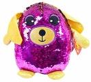 Мягкая игрушка ABtoys Собака с пайетками фиолетовая 20 см