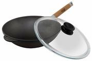 Сковорода-вок Биол 1526С 26 см с крышкой