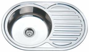 Врезная кухонная мойка Ростовская Мануфактура Сантехники MG8-7750OVL 77х50см нержавеющая сталь