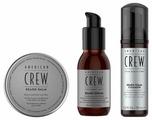 American Crew Набор для бороды: сыворотка, бальзам, мусс