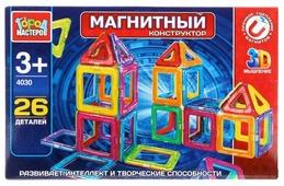 Магнитный конструктор ГОРОД МАСТЕРОВ Магнитный 4030