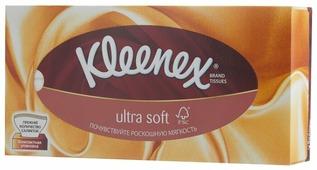 Салфетки Kleenex Ultra soft в картонной коробке 20 х 20
