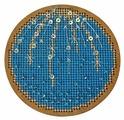 Созвездие Набор для вышивания крестом на основе Новогодняя игрушка Морозная свежесть 8,5 х 8,5 см (ИК-010)