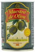 Maestro De Oliva Оливки гигантские в рассоле с косточкой, жестяная банка 420 г
