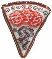ZENGANA Набор для вышивания бисером и нитками Шоколадный тортик 7 х 8 х 2 см (М-108)
