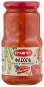 Фасоль Пиканта печеная в томатном соусе, стеклянная банка 530 г