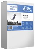 Бумага A6 500 шт. S'OK Matt 230 г/м2