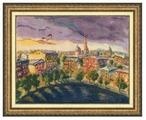 Золотое Руно Набор для вышивания Над Патриаршими прудами (по мотивам картины Н. Зубковой) 35,5 х 46 см (Ф-037)