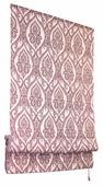 Римская штора Эскар Дамаск (сангрия)