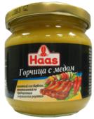 Горчица Haas с медом, 215 г