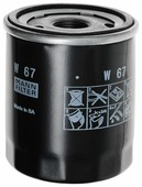 Масляный фильтр MANNFILTER W67