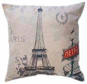 Чехол для подушки Pastel Париж 45х45 см (1315501)