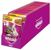 Корм для кошек Whiskas с курицей 85 г (мини-филе)