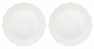 Elan gallery Набор десертных тарелок Белый узор 28 см, 2 шт (540156)