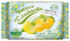 Мармелад Умные сладости без сахара желейно-формовой Лимон 200 г