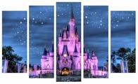Модульная картина Картиномания Замок из сказки