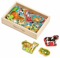 Игровой набор Melissa & Doug Wooden Animal Magnets 475