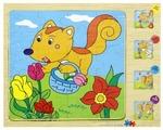 Набор рамок-вкладышей Junfa toys Деревянные (DX-D402)