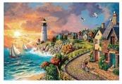 "Рыжий кот Картина по номерам ""Маяк у моря"" 40х50 см (Х-8228)"