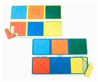 Развивающая игра Оксва Сложи квадрат, 2 уровень сложности (класс «эконом»)