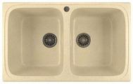 Врезная кухонная мойка Mixline ML-GM23 77.5х49.5см искусственный мрамор