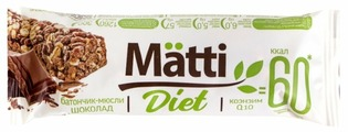 Злаковый батончик Matti Diet Шоколад, 6 шт