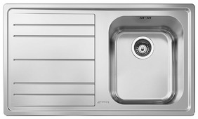 Врезная кухонная мойка smeg LE861S-2 86.8х50.8см нержавеющая сталь