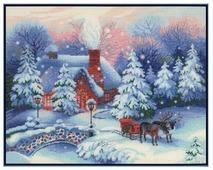 Риолис Набор для вышивания Premium Накануне Рождества 45 х 35 см (100/041)
