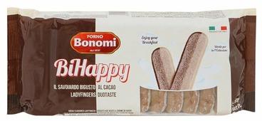 Печенье Forno Bonomi Савоярди Bihappy двухцветное, 200 г