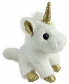 Мягкая игрушка ABtoys Единорог белый с золотыми копытами 15 см