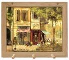 Вешалка Gift'n'Home для полотенец Парижские кафе 3 крючка