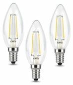 Упаковка светодиодных ламп 3 шт gauss 103801105T, E14, C35, 5Вт